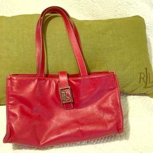 Red Ralph lauren purse